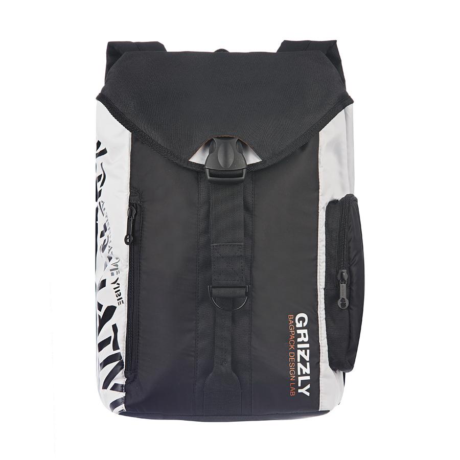 Рюкзак городской Grizzly, цвет: черный, серый, 16 л. RU-615-1/5RU-615-1/5Стильный рюкзак Grizzly выполнен из полиэстера и таслана, оформлен оригинальным принтом и символикой бренда.Рюкзак содержит одно вместительное отделения, которое закрывается затягивающимся шнуром. Внутри отделения есть карман на застежке-молнии. Снаружи, сбоку изделия, расположен объемный карман. Лицевая сторона изделия дополнена двумя врезным карманами на молнии. Верх рюкзака соединяется с основной частью с помощью фастекса. Рюкзак оснащен спинкой с усиленной вставкой, петлей для подвешивания, двумя практичными лямками, которые регулируются по длине.Практичный рюкзак станет незаменимым аксессуаром и вместит в себя все необходимое.