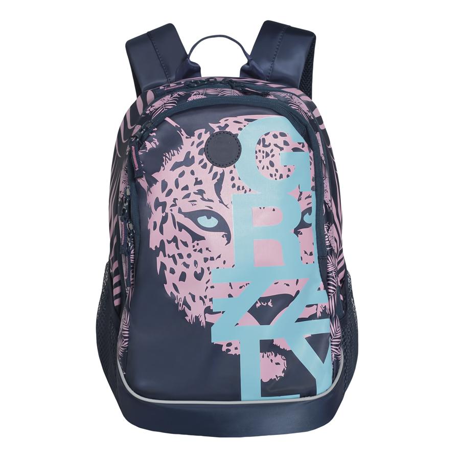 Рюкзак городской женский Grizzly, цвет: темно-синий, розовый, светло-голубой, 22 л. RD-740-1/4MHDR2G/AРюкзак городской Grizzl выполнен из высококачественного нейлона, который не пропускает воду. Изделие оформлено оригинальным принтом. На лицевой стороне расположен вместительный карман на молнии, который содержит карман с сеткой на молнии и три открытых накладных кармана для телефона, мелочей и канцелярских товаров. Также на лицевой стороне находится вшитый карман на молнии. Рюкзак оснащен двумя боковыми карманами для переноски бутылок с водой. Изделие закрывается на застежку-молнию. Внутри расположено главное вместительное отделение, которое содержит карман на молнии.