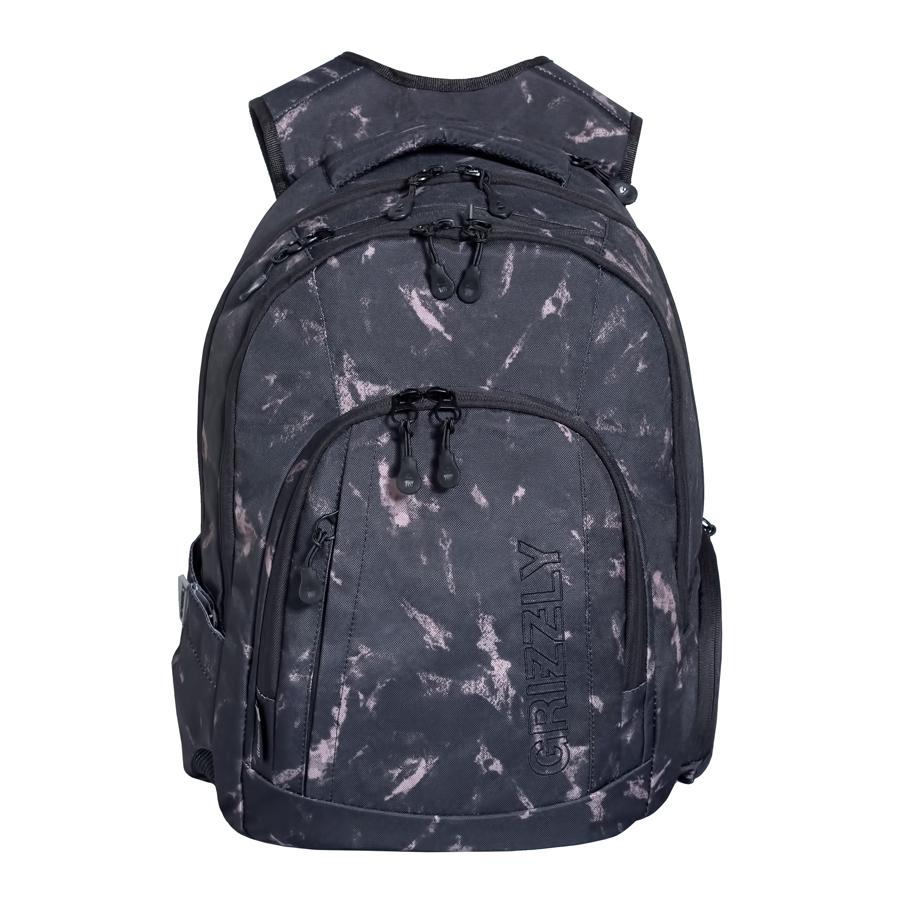 Рюкзак городской мужской Grizzly, цвет: темно-серый, бежевый, 24 л. RU-701-1/1КомфортРюкзак городской Grizzl выполнен из высококачественного плотного полиэстера и оформлен камуфляжным принтом. На лицевой стороне расположен карман на молнии, который содержит вшитый карман на молнии, два открытых накладных кармана для мелочей и четыре кармана для канцелярских принадлежностей. Также на лицевой стороне находится вместительный карман на молнии и вертикальный карман на молнии для мелочей. На тыльной стороне расположен вшитый вертикальный карман на молнии. Рюкзак оснащен двумя боковыми карманами для переноски бутылок с водой. Рюкзак имеет петлю для подвешивания и две удобные лямки, длина которых регулируется с помощью пряжек. Изделие закрывается на застежку-молнию. Внутри расположено главное вместительное отделение, которое содержит открытый мягкий карман для планшета.