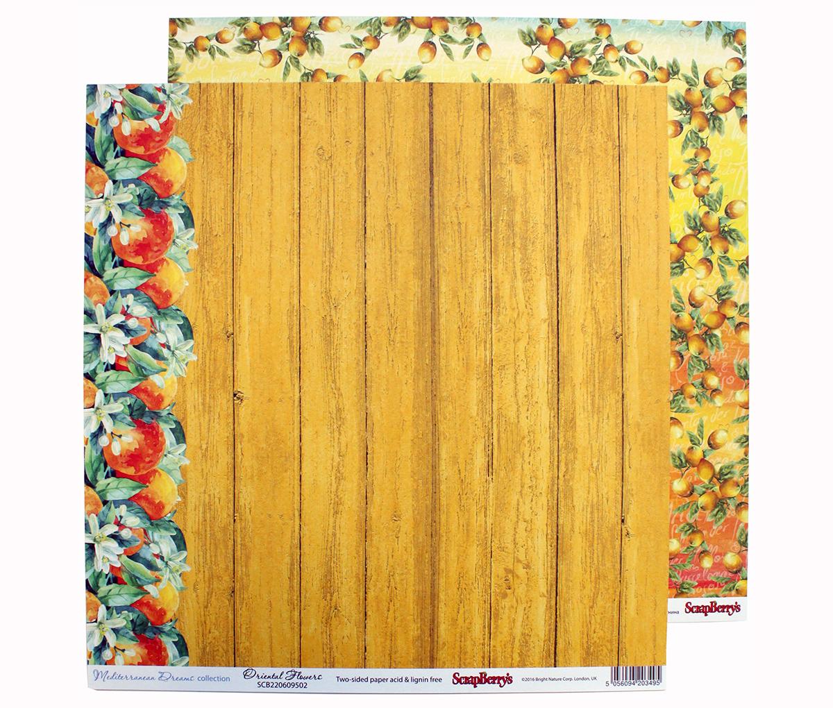 Бумага для скрапбукинга ScrapBerrys Средиземноморье. Цитрусовый сад, двухсторонняя, 30,5 х 30,5 см, 10 штNLED-454-9W-BKБумага для скрапбукинга ScrapBerrys позволит создать красивый альбом, фоторамку или открытку ручной работы, оформить подарок или аппликацию. Набор включает в себя 10 листов из плотной бумаги.Скрапбукинг - это хобби, которое способно приносить массу приятных эмоций не только человеку, который этим занимается, но и его близким, друзьям, родным. Это невероятно увлекательное занятие, которое поможет вам сохранить наиболее памятные и яркие моменты вашей жизни, а также интересно оформить интерьер дома.Размер листа: 30,5 х 30,5 см.