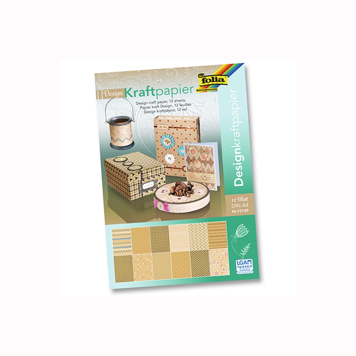 Набор крафт картона  Folia , с глиттером, A4, 12 листов -  Бумага и бумажная продукция
