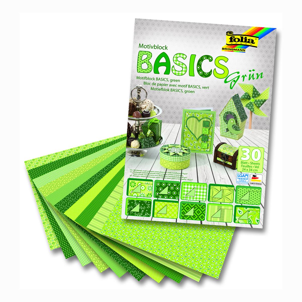 Набор дизайнерского картона Folia Базовый, цвет: зеленый, 24 х 34 см, 30 листов72523WDНабор дизайнерского картона Folia Базовый позволит создать красивый альбом, фоторамку или открытку ручной работы, оформить подарок или аппликацию. Скрапбукинг - это хобби, которое способно приносить массу приятных эмоций не только человеку, который этим занимается, но и его близким, друзьям, родным. Это невероятно увлекательное занятие, которое поможет вам сохранить наиболее памятные и яркие моменты вашей жизни, а также интересно оформить интерьер дома.Размер картона: 24 х 34 см.
