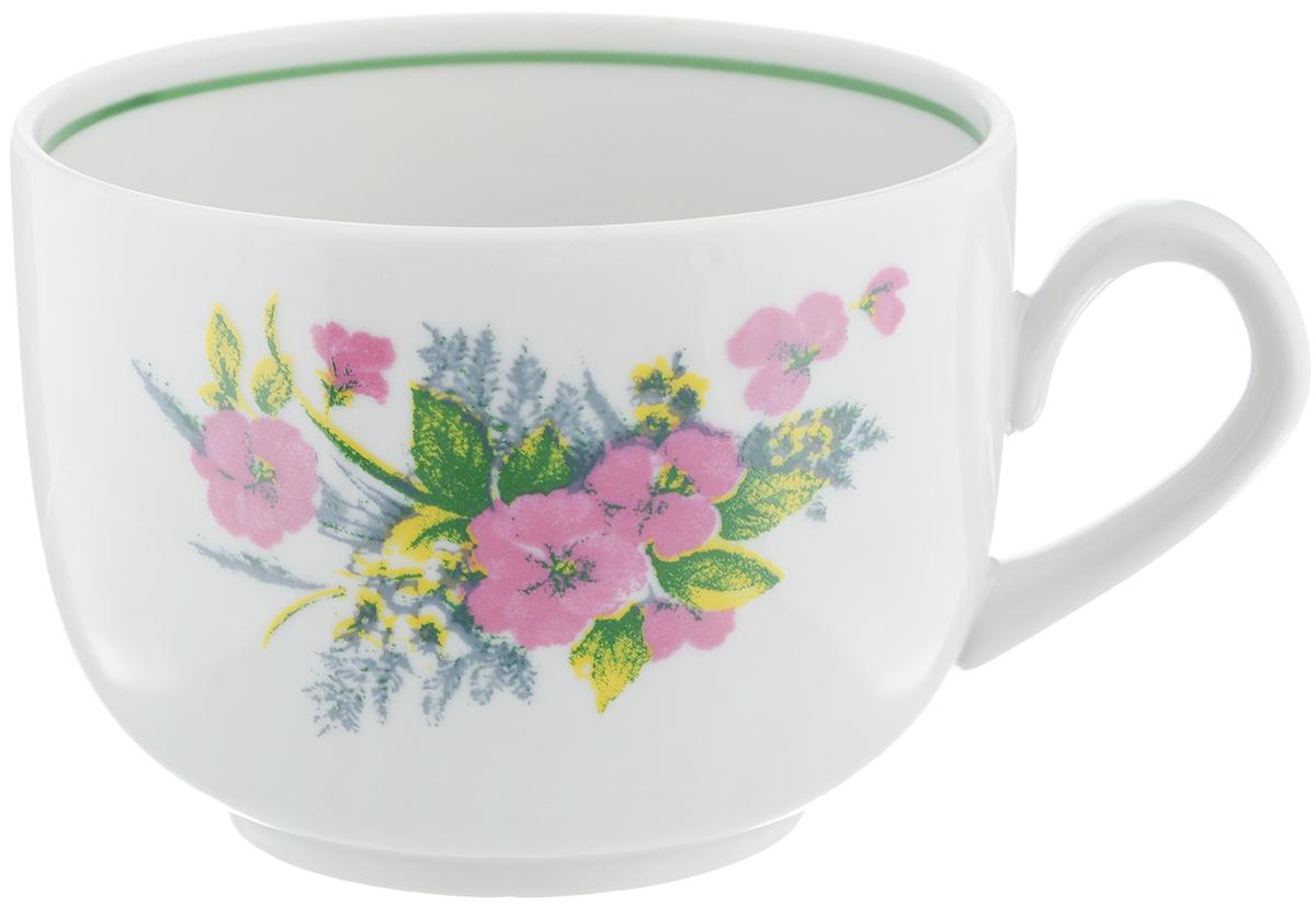Чашка чайная Фарфор Вербилок Август. Виола, 300 мл54 009312Чайная чашка Фарфор Вербилок Август. Виола способна скрасить любое чаепитие. Изделие выполнено из высококачественного фарфора. Посуда из такого материала позволяет сохранить истинный вкус напитка, а также помогает ему дольше оставаться теплым.Диаметр по верхнему краю: 8,5 см.Высота чашки: 6,5 см.