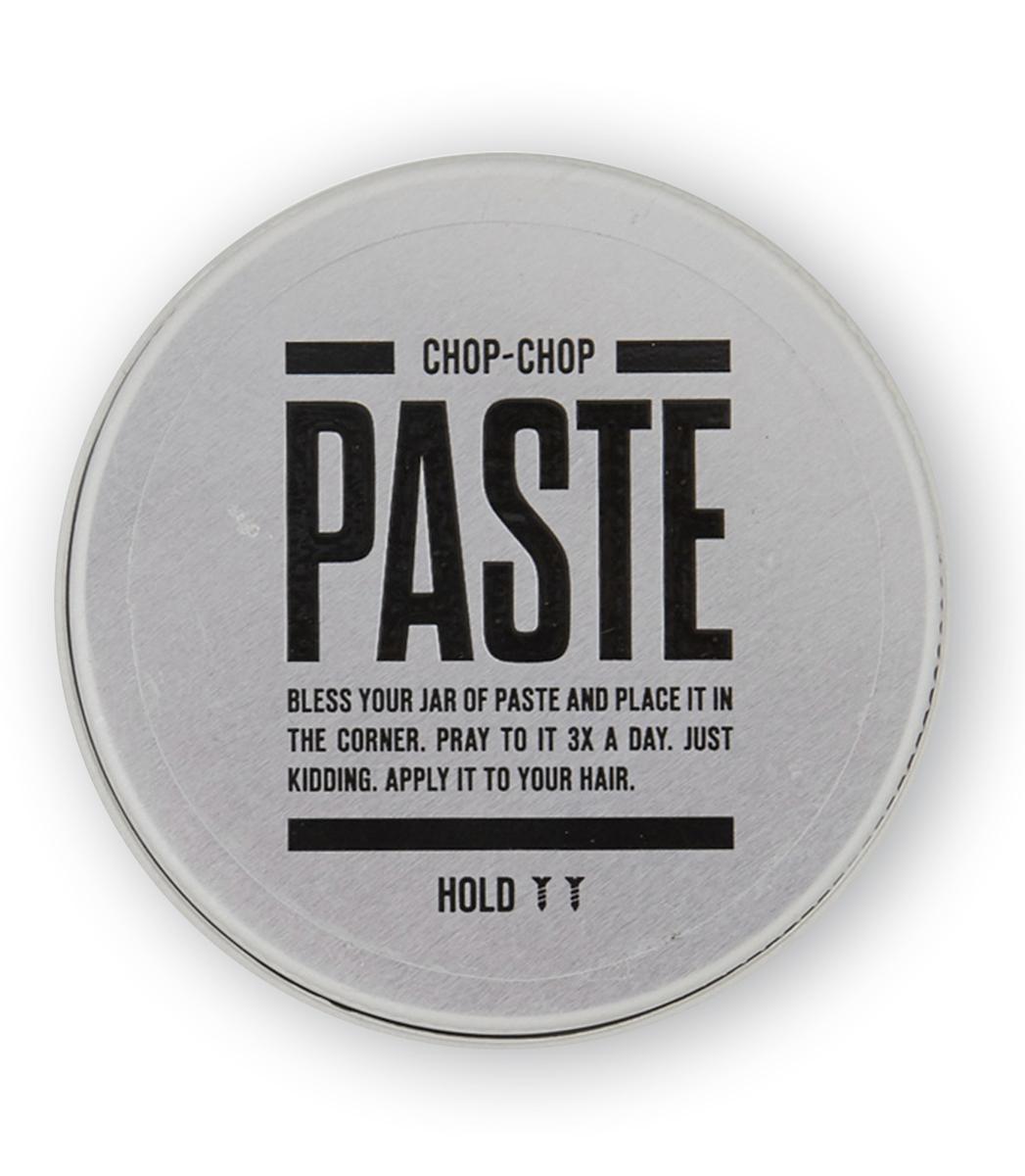 Chop-Chop Паста для волос, 50 млMP59.4DФирменное матовое средство для укладки волос с тонким ароматом грейпфрута. Мягкая и деликатная, но в то же время уверенная фиксация. Подходит как для коротких, так и для длинных волос.Активные ингредиентыЗа четкость формы укладки здесь отвечает пчелиный воск. Процентное содержание более 10%. Карнаубский воск из листьев пальмового «дерева жизни» Бразилии обеспечивает стойкость пасты в течение всего дня, средство не размазывается и растекается даже в самую жаркую погоду.