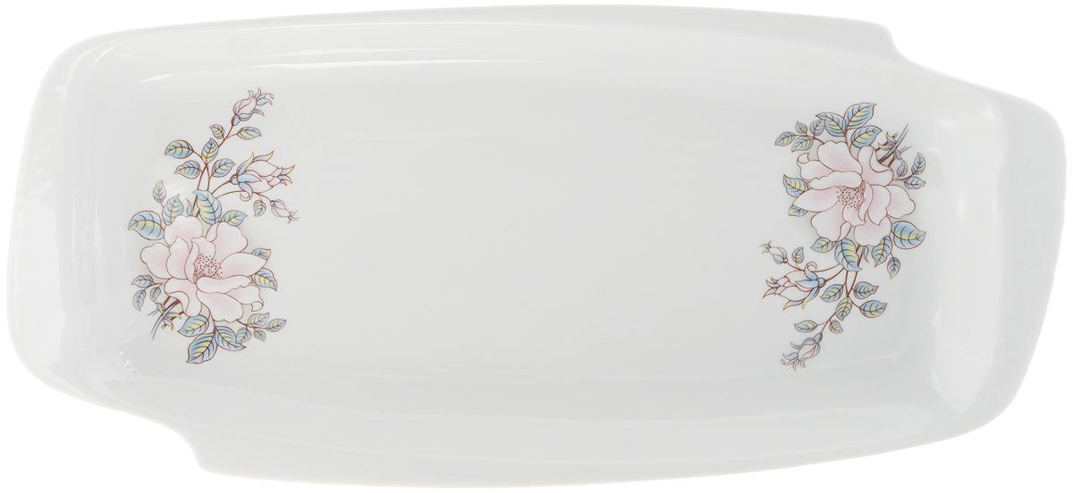 Селедочница Фарфор Вербилок Контесса, цвет: белый, розовый, длина 28,5 см19030610Селедочница Фарфор Вербилок Контесса станет прекрасным украшением праздничного стола. Изящный дизайн и красочность оформления придутся по вкусу и ценителям классики, и тем, кто предпочитает утонченность и изысканность. Так как в селедочнице можно также увидеть нарезки и другие яства, ее можно считать многофункциональной.Такое изделие украсит сервировку вашего стола и подчеркнет прекрасный вкус хозяина, а также может стать отличным подарком.