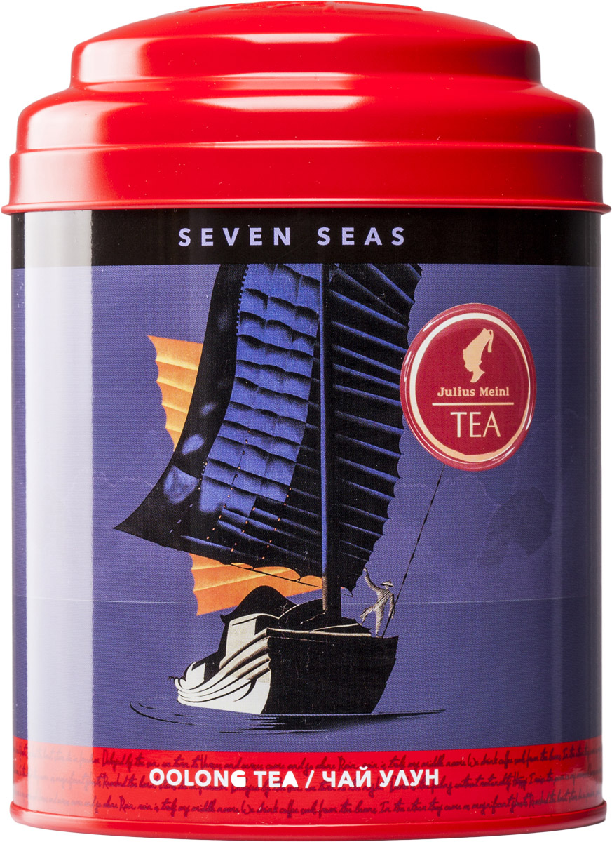 Julius Meinl Семь морей чай улун листовой, 50 г1655Перед вами редкий утесный чай Да Хун Пао из региона Уишань, который отличается многогранностью вкуса и настроений: благородная горечь сочетается со сладостью вкуса, печеный аромат сменяется свежим послевкусием. Чай, способный штормить и умиротворять, непредсказуемый как само море, – для тех, кто слышит зов дальних странствий в своем сердце.