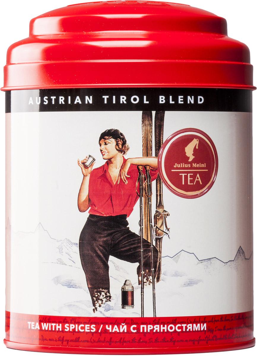 Julius Meinl Тирольский бленд черный листовой чай с пряностями, 100 г0120710Австрия славится своими горнолыжными курортами, а они, в свою очередь, особым чайным рецептом – тирольским охотничьим чаем Jagertee. Это высокогорный черный чай с печеными нотками и пряными добавками.