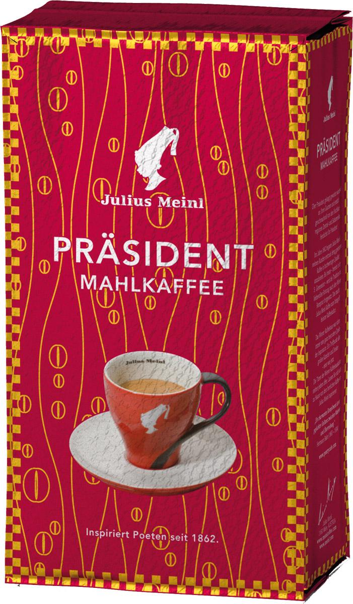 Julius Meinl Президент кофе молотый, 250 г0120710Prasident - самый популярный премиальный кофе в Австрии. Смесь высокогорной арабики из Центральной и Южной Америки с ярким, запоминающимся вкусом.