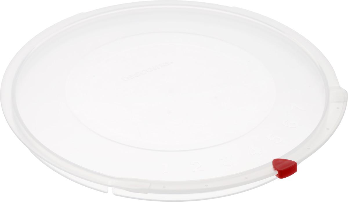 Крышка Tescoma Unicover, диаметр 24 см782824Крышка Tescoma Unicover используется при хранении еды, для закрытия высоких кастрюль, кастрюль и ковшей из нержавеющей стали. Плоская форма крышки позволяет складывать посуду в целях экономии места в холодильнике. Пища, закрытая пластиковой крышкой, не высыхает и не впитывает запахи других продуктов питания. На крышке имеется семидневный датировщик для индикации с первого дня хранения. Изделие выполнено из пластмассового материала, предназначенного для медицинских и фармацевтических целей. Можно мыть в посудомоечной машине.Подходит для кастрюль диаметром 24 см.Диаметр крышки (по верхнему краю): 25,5 см.