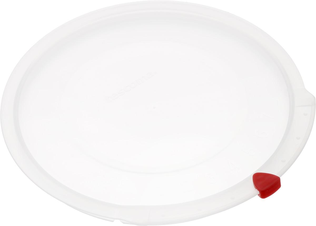 Крышка Tescoma Unicover, диаметр 18 см719Крышка Tescoma Unicover используется при хранении еды, для закрытия высоких кастрюль, кастрюль и ковшей из нержавеющей стали. Плоская форма крышки позволяет складывать посуду в целях экономии места в холодильнике. Пища, закрытая пластиковой крышкой, не высыхает и не впитывает запахи других продуктов питания. На крышке имеется семидневный датировщик для индикации с первого дня хранения. Изделие выполнено из пластмассового материала, предназначенного для медицинских и фармацевтических целей. Можно мыть в посудомоечной машине.Подходит для кастрюль диаметром 18 см.Диаметр крышки (по верхнему краю): 19,5 см.