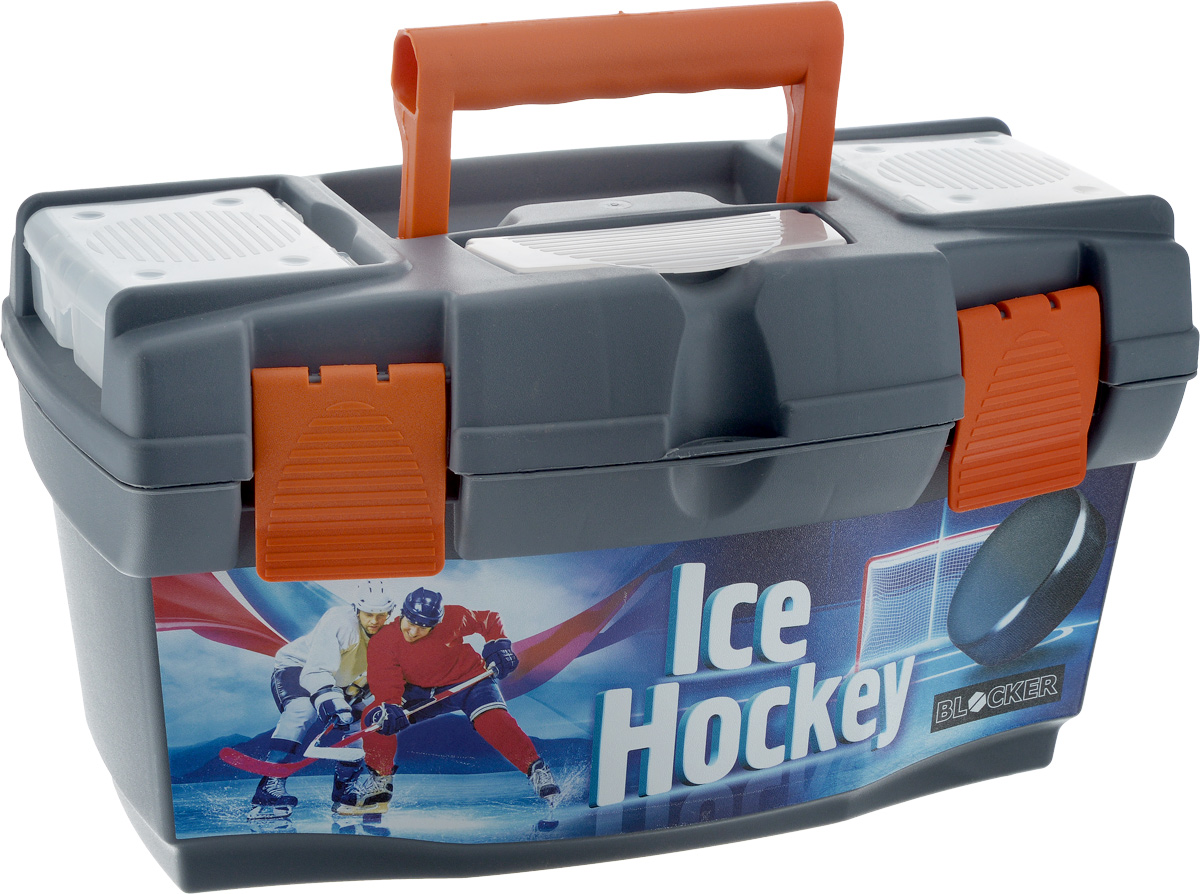 Ящик для инструментов Blocker Master Ice Hockey, 40 х 21 х 23 смPsr 1440 li-2Ящик Blocker Master Ice Hockey выполнен из прочного пластика и предназначен для хранения инструментов. Изделие оснащено ручкой для удобной переноски. В комплект входит съемный лоток с ручкой для инструментов. Крышка оснащена двумя органайзерами и отделением для хранения бит. Лоток оснащен линейкой. Крышка плотно закрывается на две защелки. Ящик для инструментов Blocker Master Ice Hockey позволит хранить инструменты в одном месте. Размер ящика: 40 х 21 х 23 см. Размер лотка: 39 х 18 х 8 см. Размер органайзера: 10 х 8,5 х 2,5 см. Размер отделения для бит: 13 х 5,5 см.