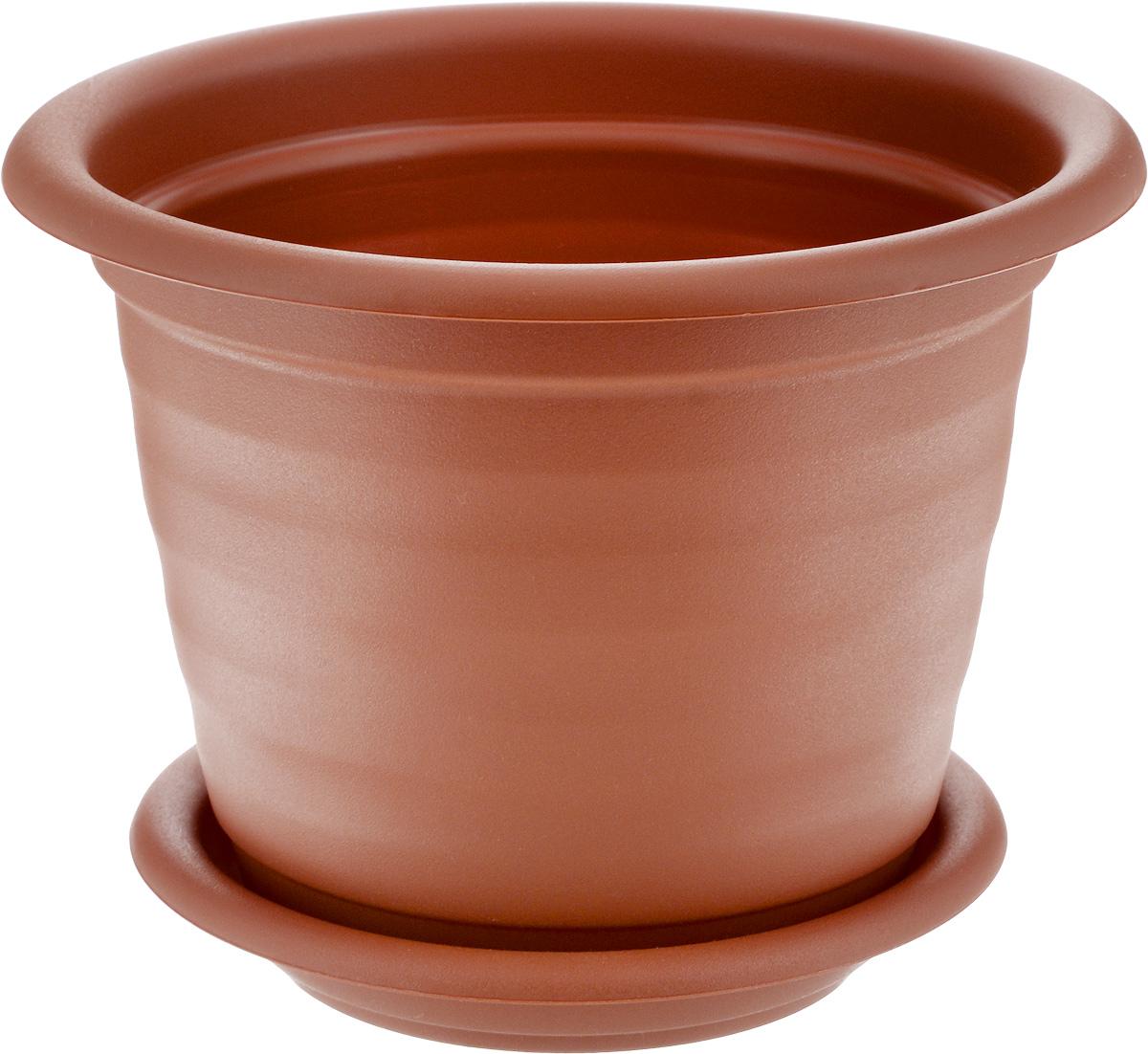 Кашпо Idea Ламела, с поддоном, цвет: терракотовый, 3 л531-302Кашпо Idea Ламела изготовлено из высококачественного пластика. Специальный поддон предназначен для стока воды. Изделие прекрасно подходит для выращивания растений и цветов в домашних условиях. Лаконичный дизайн впишется в интерьер любого помещения. Диаметр поддона: 18 см. Диаметр кашпо по верхнему краю: 21 см.Высота кашпо: 18 см.Объем кашпо: 3 л.