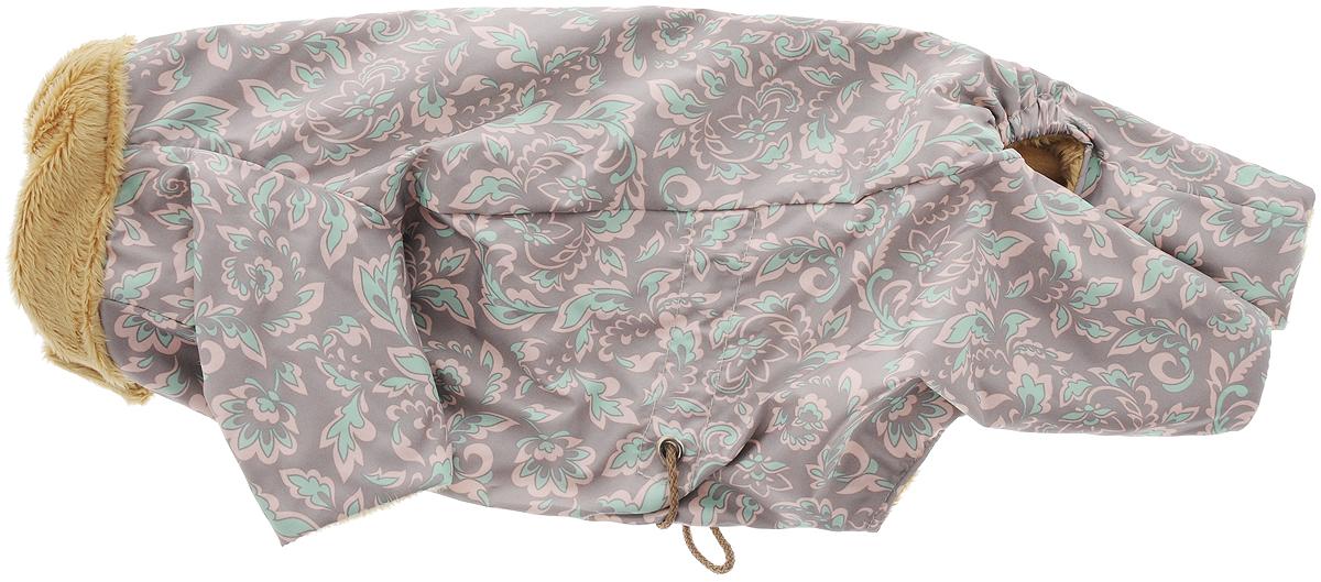 Комбинезон для собак  Osso Fashion , для девочки, цвет: серый, розовый, бежевый. Размер 25