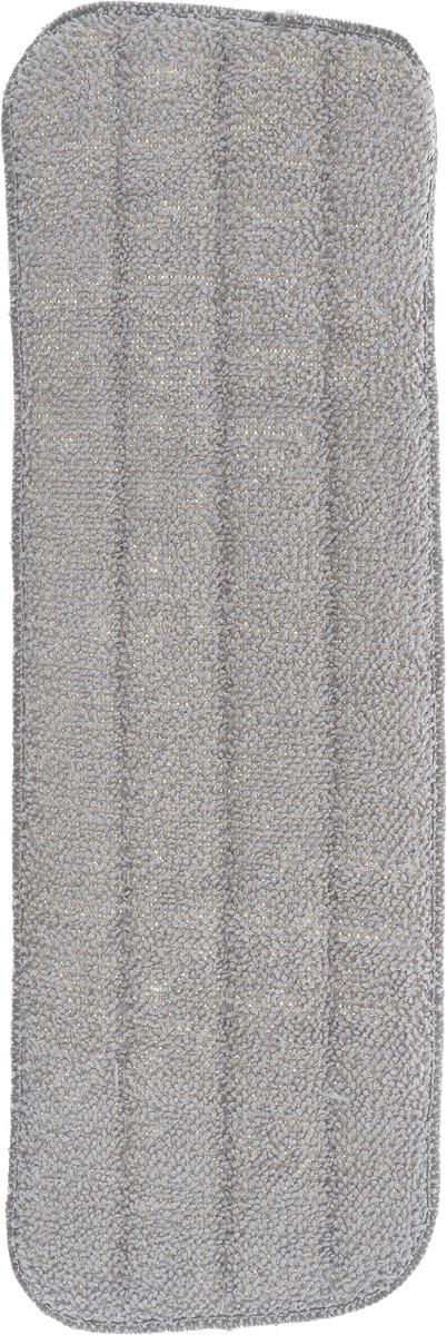 Насадка для швабры-спрей Youll love, сменная, 14 х 41 смVCA-00Сменная насадка для швабры Youll love выполнена из микрофибры (85% полиэстер, 15% полиамид). Насадки из микроволокна обладают несколькими важными достоинствами: микроволокно в сухом виде в процессе протирания поверхности электризуется и притягивает к себе мельчайшие частицы пыли, а не разгоняет их по комнате. При влажной уборке, благодаря способности микрофибрового волокна поглощать влагу в семь раз больше самой ткани, насадка хорошо впитывает и удерживает влагу, забирает в структуру ткани любые загрязнения, не оставляет разводов. Крученые петли работают как деликатный абразив и усиливают впитывающие свойства микрофибры.Использование насадки для швабры Youll love позволяет очистить любые поверхности от пыли и грязи без использования химических средств.
