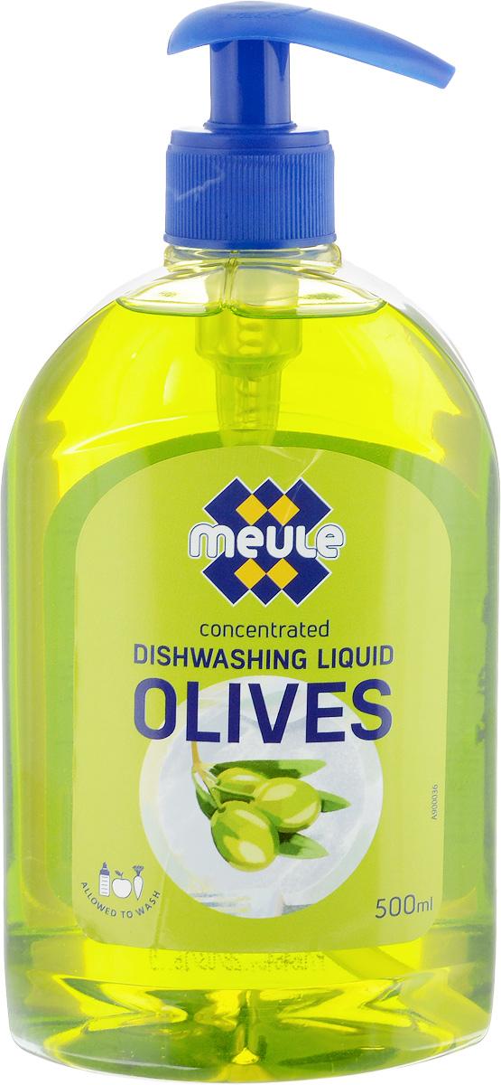 Жидкость для мытья посуды Meule Олива, концентрат, 500 мл жидкость для мытья посуды aos лимон 1 л
