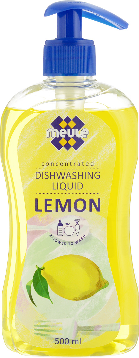Жидкость для мытья посуды Meule Лимон, концентрат, 500 мл жидкость для мытья посуды aos лимон 500 мл