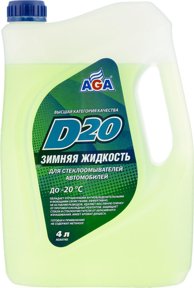 Жидкость для омывателя стекла AGA, зимняя, 4 лGC204/30Зимняя жидкость AGA предназначена для стеклоомывателей российских и иностранных автомобилей всех марок. Рекомендуется для использования в зимний период при температуре окружающего воздуха до -20°С. Жидкость обеспечивает идеальную чистоту лобового, заднего стекол и фар благодаря эффективным моющим компонентам. Защищает стекло ищетки отабразивного изнашивания, неоставляет настекле белесых имаслянистых разводов.Содержит специальные отдушки, придающие стеклоомывающей жидкости приятный и легкий аромат дюшеса.Товар сертифицирован.