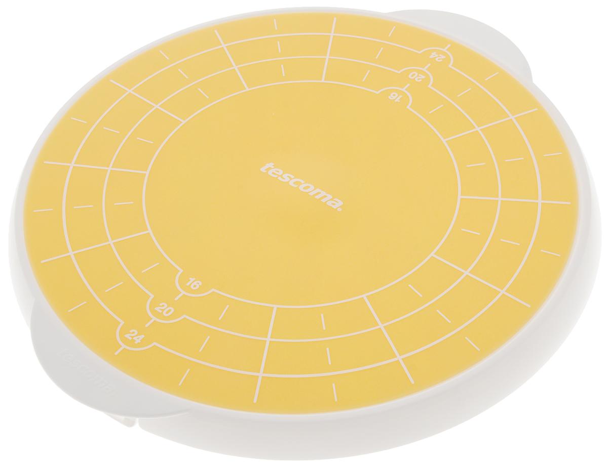 Поднос для торта Tescoma Delicia, запасной, диаметр 29 см115510Запасной поднос для подставки Tescoma Delicia предназначендля украшения на нем торта, а так же для хранения десерта вхолодильнике и подачи на стол гостям.Является дополнительным аксессуаром для подставкиTescoma Delicia.Поднос выполнен из жаропрочного силикона, оснащенспециальной порционной разметкой, для удобной нарезкиторта. Благодаря силиконовому покрытию десерт,размещенный на поднос, не скользит.Можно мыть в посудомоечной машине.Диаметр подноса: 29 см.