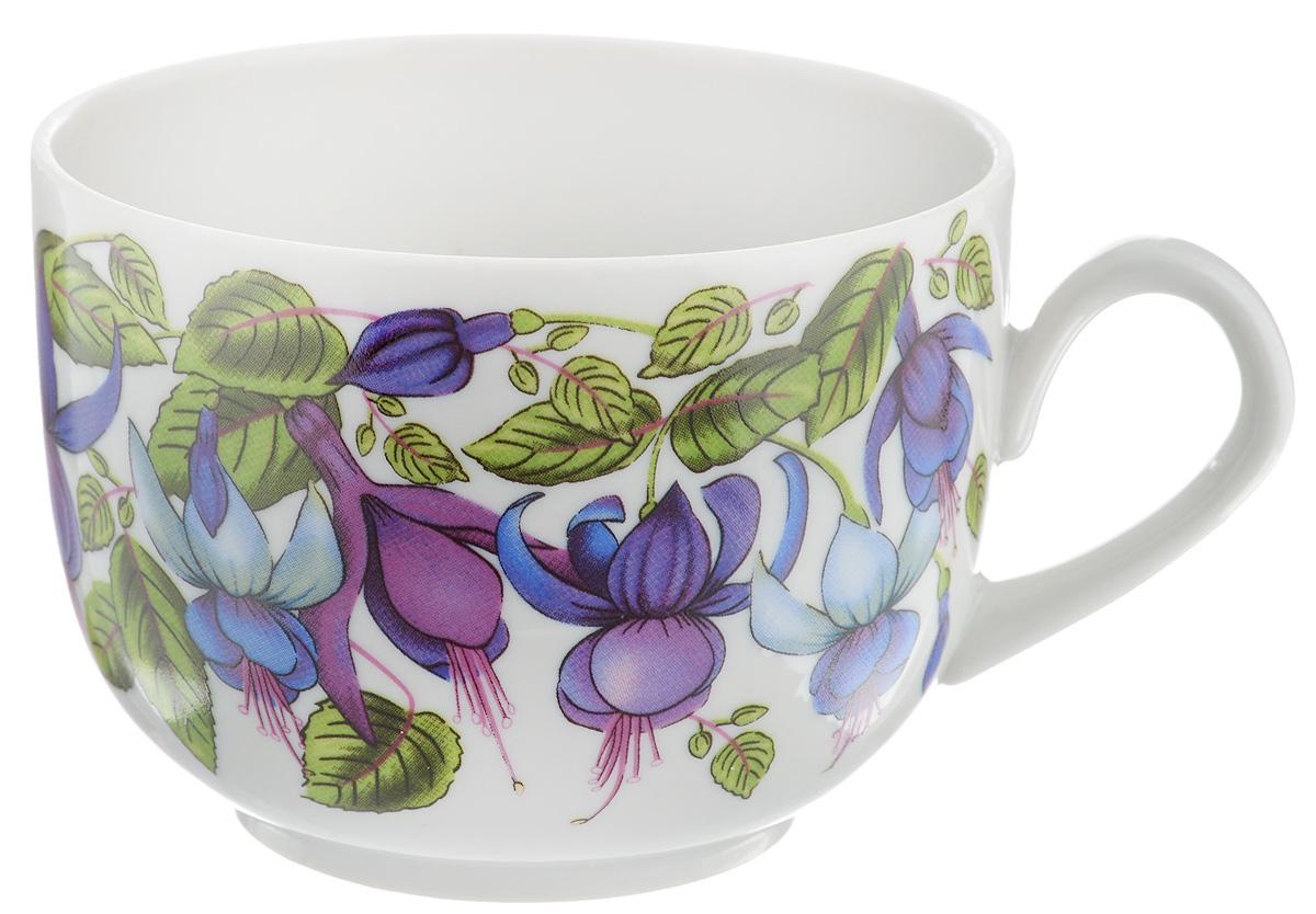 Чашка чайная Фарфор Вербилок Фуксия, 250 мл54 009312Чайная чашка Фарфор Вербилок Фуксия изготовлена из высококачественного фарфора и украшена цветочным рисунком. Она отвечает всем требованиям людей с широкой душой и хорошим аппетитом. Такая чашка прекрасно подходит как для ежедневных трапез, так и для подарков дорогим друзьям. Диаметр по верхнему краю: 8,5 см. Высота стенки: 6,5 см.