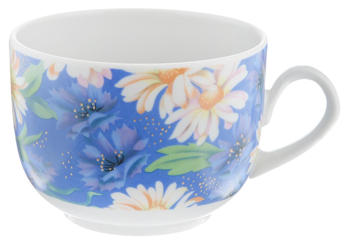 Чашка чайная Фарфор Вербилок Полянка, 250 мл115510Чайная чашка Фарфор Вербилок Полянка изготовлена из высококачественного фарфора и украшена цветочным рисунком на синем фоне. Она отвечает всем требованиям людей с широкой душой и хорошим аппетитом. Такая чашка прекрасно подходит как для ежедневных трапез, так и для подарков дорогим друзьям. Диаметр по верхнему краю: 8,5 см. Высота стенки: 6,5 см.
