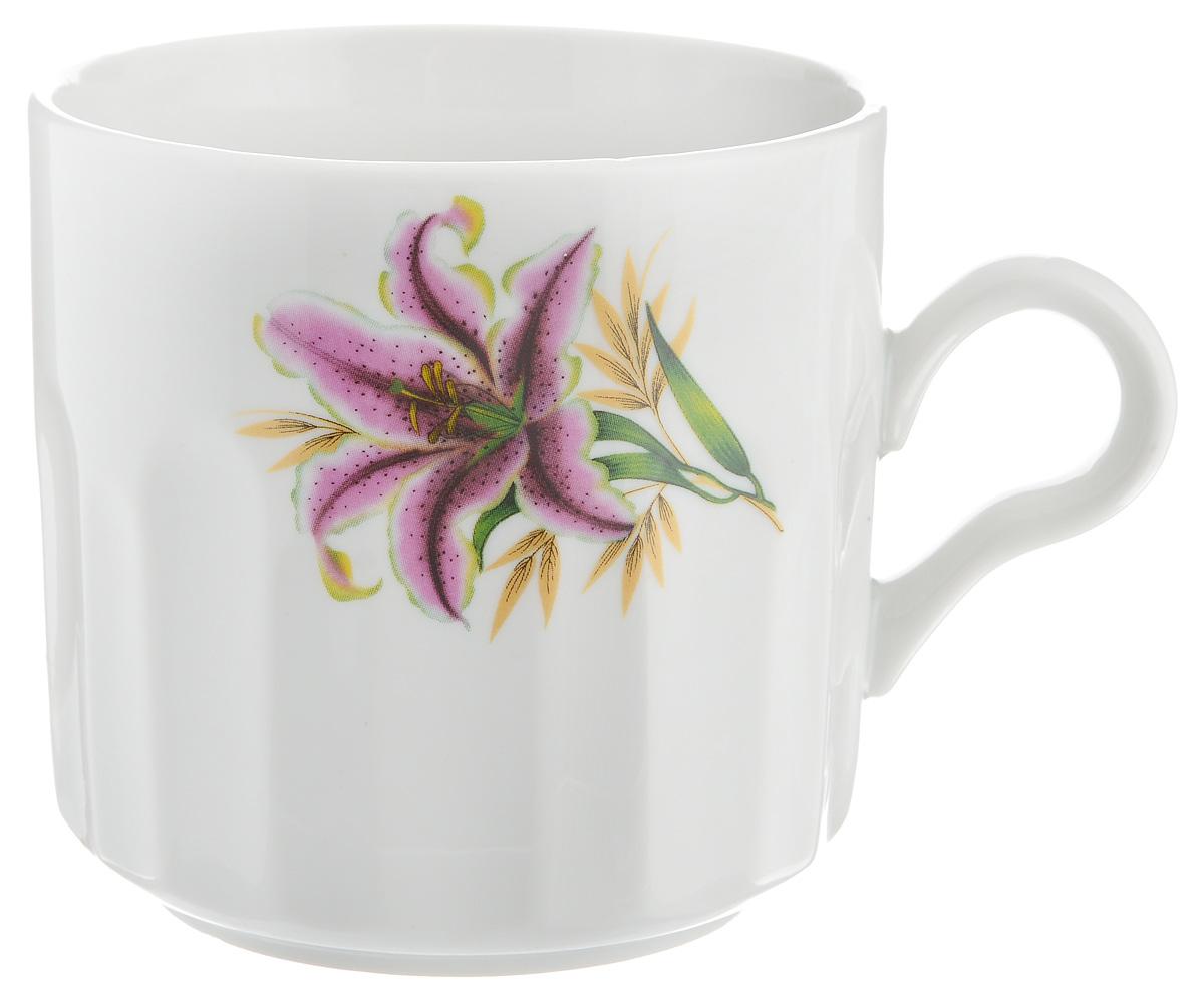 Кружка Фарфор Вербилок Розовая лилия, 500 мл54 009312Кружка Фарфор Вербилок Розовая лилия способна скрасить любое чаепитие. Изделие выполнено из высококачественного фарфора. Посуда из такого материала позволяет сохранить истинный вкус напитка, а также помогает ему дольше оставаться теплым.Диаметр по верхнему краю: 9,5 см.Высота кружки: 9,5 см.