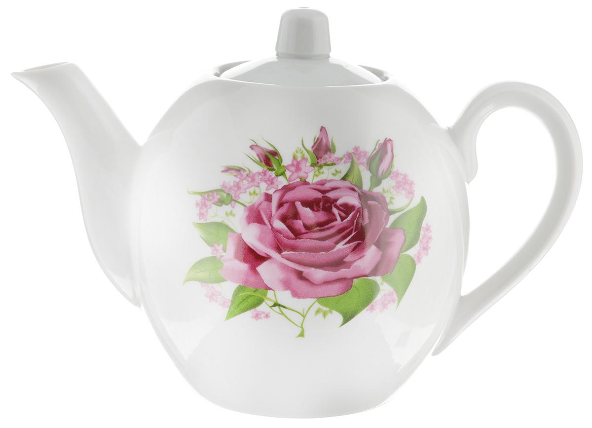 Чайник заварочный Фарфор Вербилок Розовые бутоны, 800 млVT-1520(SR)Для того чтобы насладиться чайной церемонией, требуется не только знание ритуала и чай высшего сорта. Необходим прекрасный заварочный чайник, который может быть как центральной фигурой фарфорового сервиза, так и самостоятельным, отдельным предметом. От его формы и качества фарфора зависит аромат и вкус приготовленного напитка. Именно такие предметы формируют в доме атмосферу истинного уюта, тепла и гармонии. С заварочным чайником Фарфор Вербилок Розовые бутоны вы сможете ощутить более богатый, ароматный вкус чая или кофе. Изделие выполнено из высококачественного фарфора и украшено цветочным рисунком.Диаметр чайника по верхнему краю: 6 см. Диаметр основания чайника: 7,5 см. Высота чайника (без учета крышки): 11,5 см.