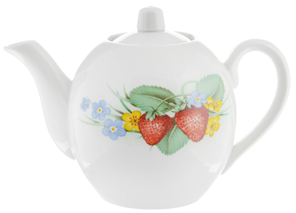 Чайник заварочный Фарфор Вербилок Лесной, 800 мл115510Для того чтобы насладиться чайной церемонией, требуется не только знание ритуала и чай высшего сорта. Необходим прекрасный заварочный чайник, который может быть как центральной фигурой фарфорового сервиза, так и самостоятельным, отдельным предметом. От его формы и качества фарфора зависит аромат и вкус приготовленного напитка. Именно такие предметы формируют в доме атмосферу истинного уюта, тепла и гармонии. С заварочным чайником Фарфор Вербилок Лесной вы сможете ощутить более богатый, ароматный вкус чая или кофе. Изделие выполнено из высококачественного фарфора и украшено оригинальным рисунком.Диаметр чайника по верхнему краю: 6 см. Диаметр основания чайника: 7,5 см. Высота чайника (без учета крышки): 11,5 см.