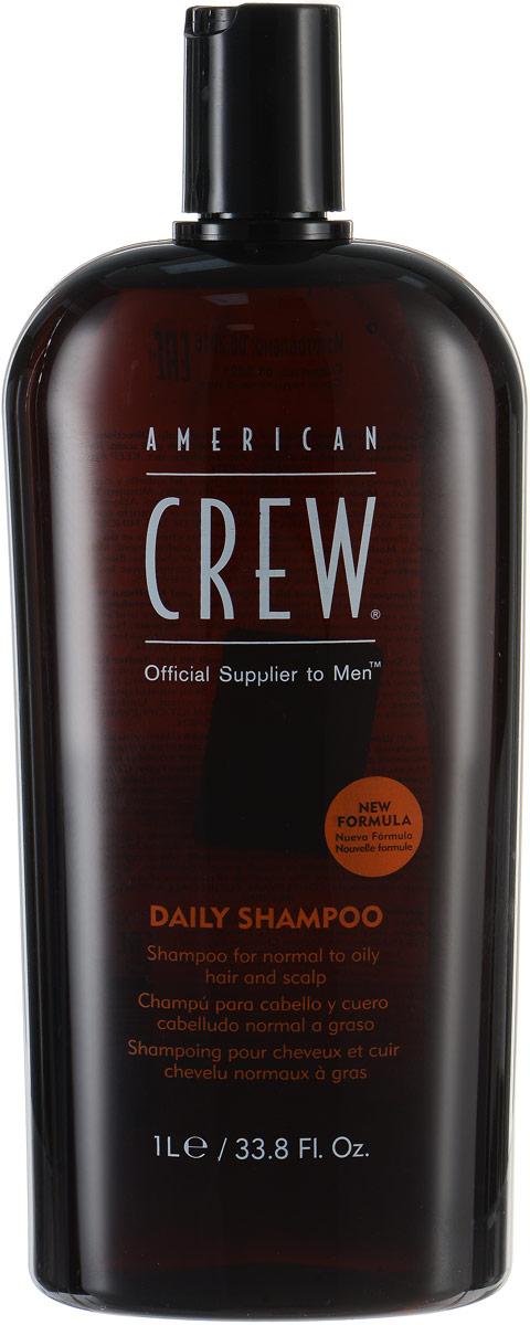 American Crew Шампунь для ежедневного ухода Classic Daily Shampoo 1000 млFS-00897Предназначенный для ежедневного ухода шампунь American Crew Classic Daily Shampoo включает в себя огромное количество полезных компонентов. Кора мыльного дерева очищает кожу головы и волосы, не влияя при этом на их структуру. Экстракты тимьяна и розмарина придают необходимое увлажнение, а блеск и силу волосам дадут протеины пшеницы. Данное средство рекомендуется для обогащения и очищения жирных и нормальных волос.