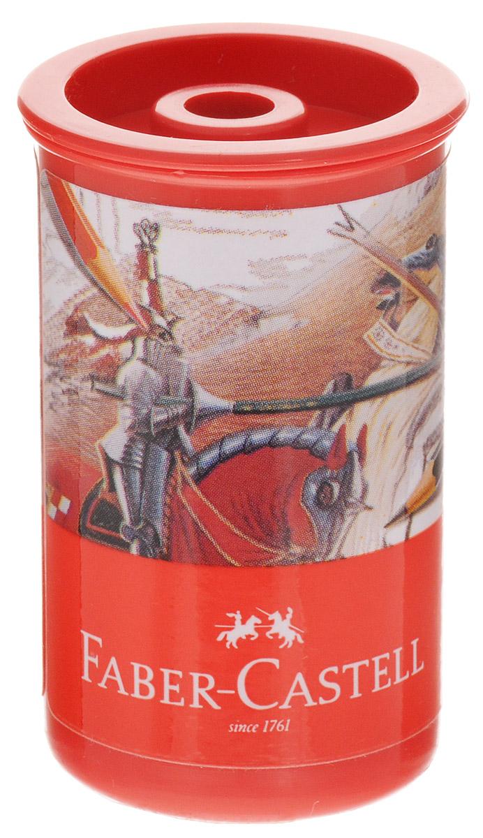 Faber-Castell Точилка-стаканчик Рыцарь72523WDТочилка-стаканчик Faber-Castell - это точилка из пластика с контейнером и одним отверстием. Контейнер для сбора стружки повышенной вместимости плотно закрывается крышкой, что препятствует случайному высыпанию стружки. Точилка предназначена для использования как в школе, так и в офисе.