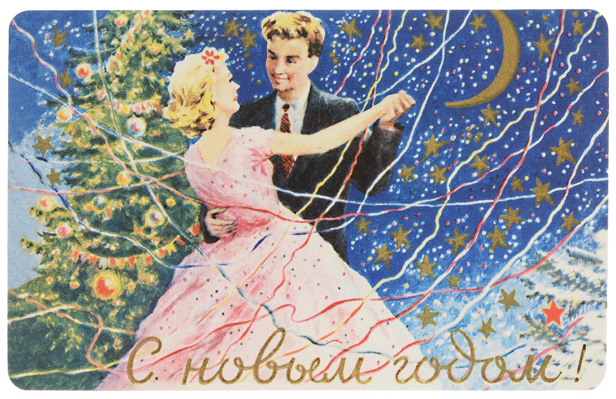 Открытка поздравительная в винтажном стиле Новый год. №335ОТКР №327Оригинальная поздравительная открытка Новый год выполнена из плотного картона. На лицевой стороне расположено красочное изображение девушки и молодого человека. Обратная сторона открытки имеет место для марки и свободное пространство, на ней вы сможете написать собственное послание. Необычная и яркая открытка в винтажном стиле поможет вам выразить чувства и передать теплые поздравления.Такая открытка станет великолепным дополнением к подарку или оригинальным почтовым посланием, которое, несомненно, удивит получателя своим дизайном и подарит приятные воспоминания.
