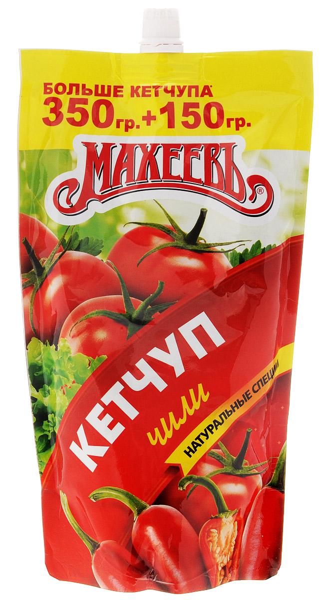 Махеев кетчуп чили, 500 г0120710Кетчуп чили Махеев — пикантный кетчуп со вкусом спелых томатов. Обладает остротой жгучих перчиков чили и насыщенным пряным ароматом.