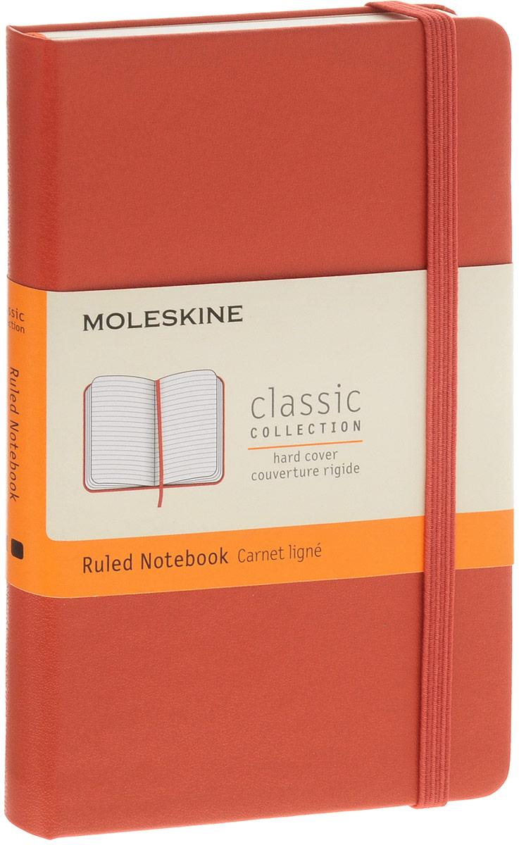 Moleskine Блокнот Classic Pocket 96 листов в линейку72523WDБлокнот Moleskine  Classic Pocket - яркий и позитивный вариант классического молескина в твердой обложке.Внутренний блок состоит из 192 листов безкислотной бумаги приятного желтоватого цвета. Блок в линейку особенно удобен для составления расписания, деловых или творческих заметок или списка покупок. Также в блокноте сохранены все достоинства классического молескина - скругленные уголки, кармашек на задней обложке, перехватывающая блокнот резиночка и плетеная закладка.Данный блокнот карманного размера поместится практически в любой сумке или кармане. Обложка легко чистится влажной тряпкой. Ваш молескин не потеряет внешний вид при частом использовании.