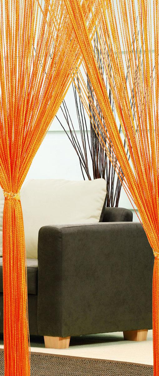 Гардина-лапша Haft, на кулиске, цвет: оранжевый, высота 250 см10248Легкая гардина-лапша на кулиске Haft, изготовленная из полиэстера, станетвеликолепным украшением любого окна. Оригинальный дизайн и приятнаяцветовая гамма привлекут к себе внимание и органично впишутся в интерьеркомнаты.