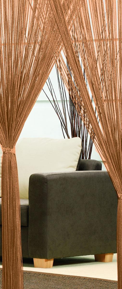 Гардина-лапша Haft, на кулиске, цвет: шоколадный, высота 250 см20736Легкая гардина-лапша на кулиске Haft, изготовленная из полиэстера, станетвеликолепным украшением любого окна. Оригинальный дизайн и приятнаяцветовая гамма привлекут к себе внимание и органично впишутся в интерьеркомнаты.