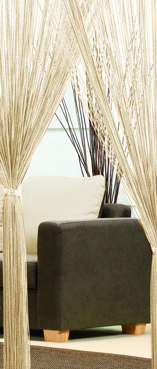 Гардина-лапша Haft, на кулиске, цвет: кремовый, высота 250 см74224Легкая гардина-лапша на кулиске Haft, изготовленная из полиэстера, станетвеликолепным украшением любого окна. Оригинальный дизайн и приятнаяцветовая гамма привлекут к себе внимание и органично впишутся в интерьеркомнаты.