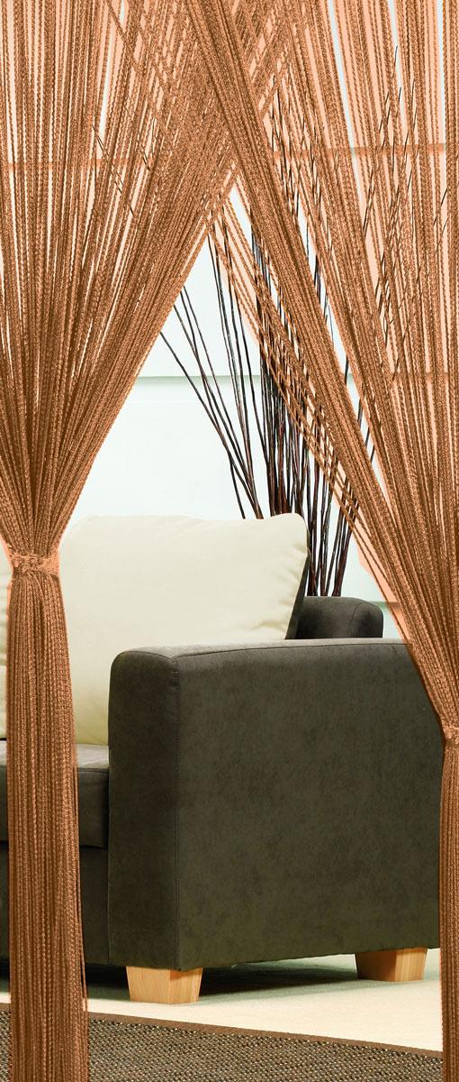 Гардина-лапша Haft, на кулиске, цвет: кофе, высота 250 см74224Легкая гардина-лапша на кулиске Haft, изготовленная из полиэстера, станетвеликолепным украшением любого окна. Оригинальный дизайн и приятнаяцветовая гамма привлекут к себе внимание и органично впишутся в интерьеркомнаты.