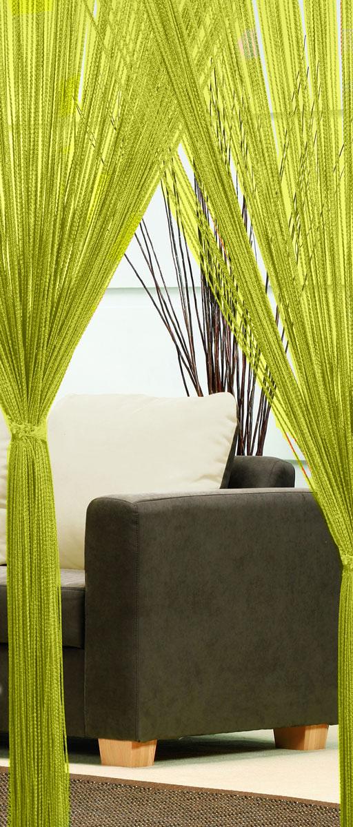 Гардина-лапша Haft, на кулиске, цвет: зеленый, высота 250 смUN123487615Легкая гардина-лапша на кулиске Haft, изготовленная из полиэстера, станетвеликолепным украшением любого окна. Оригинальный дизайн и приятнаяцветовая гамма привлекут к себе внимание и органично впишутся в интерьеркомнаты.