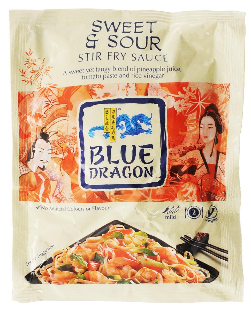 Blue Dragon Соус стир-фрай Кисло-сладкий, 120 г0120710Соус стир-фрай Blue Dragon Кисло-сладкий для приготовления горячих блюд с томатным пюре, рисовым уксусом, соком ананаса и имбирем.Подходит для вегетарианцев.