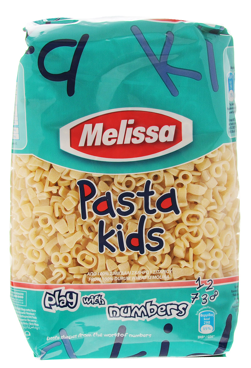 Melissa-Primo Gusto Паста Цифры, 500 г4607041134884Продукция компании Melissa производится в Греции и готовится по собственному рецепту, сохраняющему вкус твердых сортов пшеницы.Паста Цифры имеет светлый оттенок, как в сыром, так и в готовом виде, и сохраняет идеальную текстуру при приготовлении. Среди других продуктов детская линейка макаронных изделий по праву занимает достойное место.