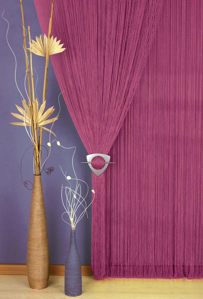 Гардина-лапша Haft, на кулиске, цвет: бордовый, высота 250 см. 203883SVC-300Легкая гардина-лапша на кулиске Haft, изготовленная из полиэстера, станетвеликолепным украшением любого окна. Оригинальный дизайн и приятнаяцветовая гамма привлекут к себе внимание и органично впишутся в интерьеркомнаты.