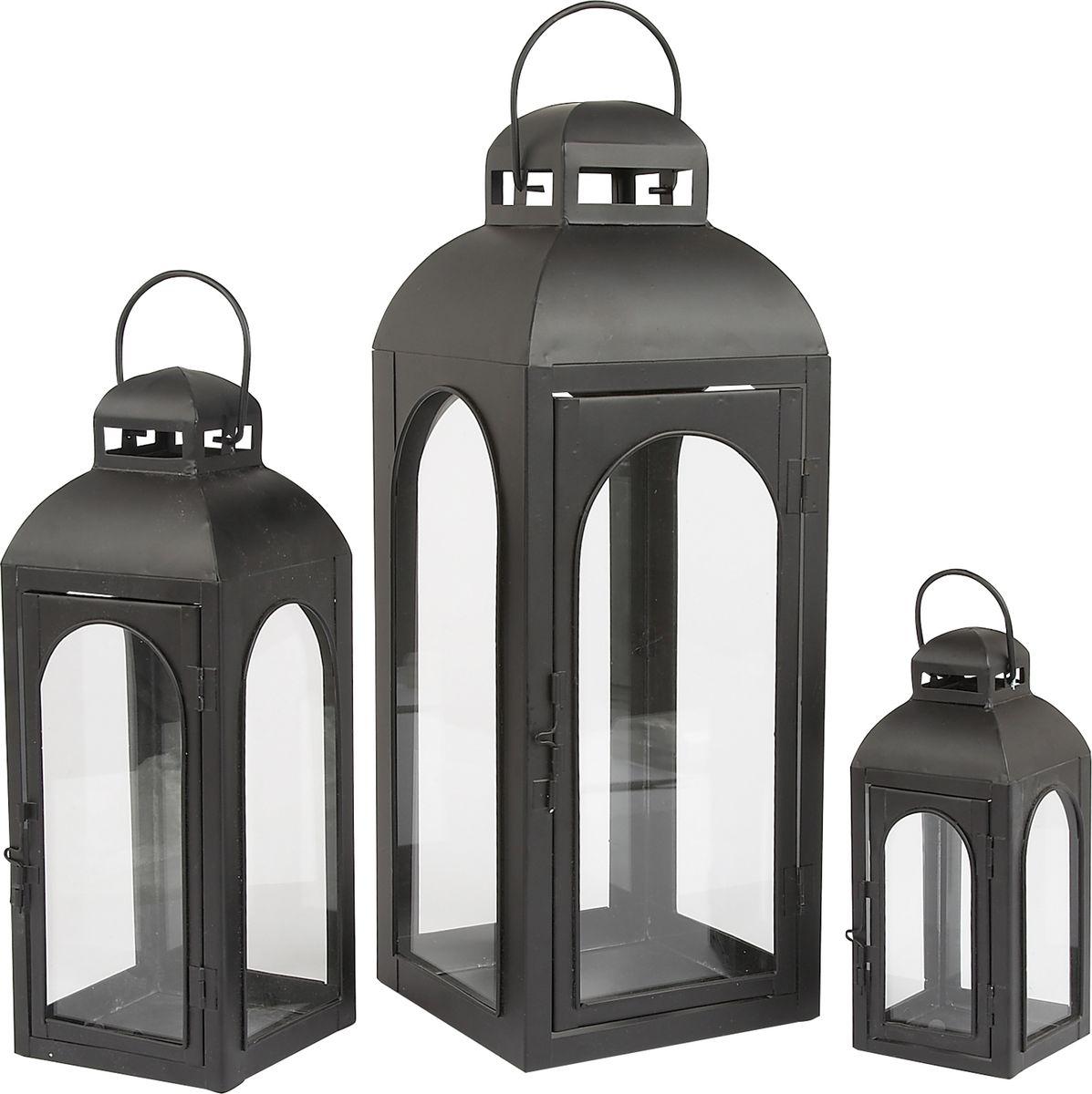 Набор фонарей Gardman, 3 шт, 45 см, 32 см, 20 см09840-20.000.00Набор из трех подсвечников станет прекрасным украшением вашего дома или сада. Подходит для чайных и прямых свечей. Свечи в комплект не включены.