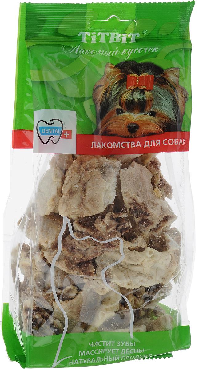 Лакомство Titbit для собак всех пород, легкое говяжье, 40 г62131Лакомство Titbit содержит кусочки высушенного говяжьего легкого. Высокое содержание микроэлементов и соединительной ткани дополняет удовольствие собаки от нежного лакомства. Легкие содержат практически такой же набор витаминов, как и мясо, но зато гораздо менее жирные. Оказывают положительное воздействие на состояние кожи, шерсти и общий обмен веществ, а также улучшает пищеварение и перистальтику кишечника. Отвлекают собаку от желания грызть обувь и мебель. Удаляет налет с зубов и укрепляет десны.Состав: высушенные кусочки говяжьего легкого. Размер лакомства: XL.Товар сертифицирован.