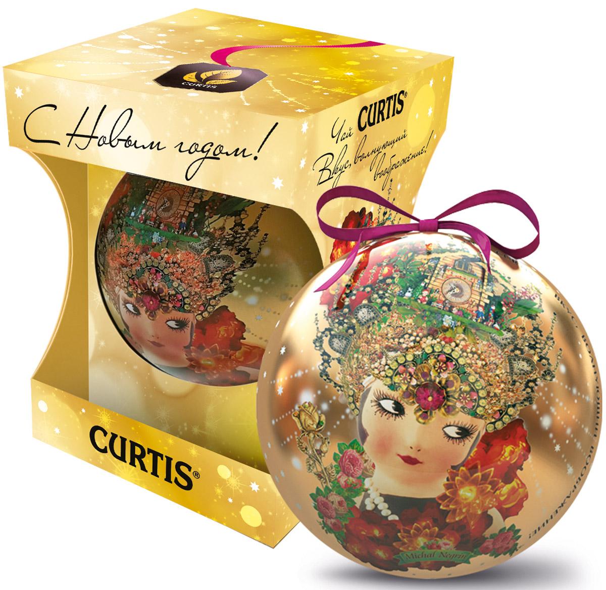 Curtis She-Shy Christmas Ball желтый, черный листовой чай, 30 г0120710Превосходный черный цейлонский чай Curtis She-Shy Christmas Ball в новогодней подарочной упаковке в форме шара золотого цвета. Отлично подойдет в качестве подарка на новогодние праздники.Уважаемые клиенты! Обращаем ваше внимание на то, что упаковка может иметь несколько видов дизайна. Поставка осуществляется в зависимости от наличия на складе.