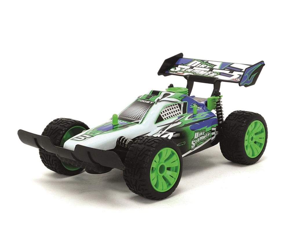 Радиоуправляемая детская игрушка Багги имеет отличную пружинную подвеску, что позволяет ездить по любым ухабам на дороге. Максимальная скорость 8 км/ч. В комплекте батарейки 1*6F22 и 4*АА. Полный набор функций вождения, звук 2-х канальный, масштаб - 1:16. Рекомендуется детям от 6 лет. Рабочая частота: 27,045 МГц; Максимальный коэффициент усиления антенны: 3 дБ; Мощность: не более 10 мВт; Разнос каналов: 50 кГц. Размер игрушки: 26 см.