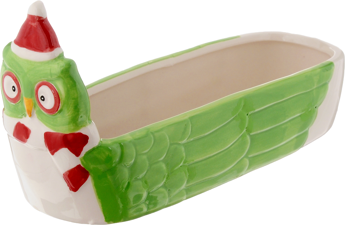 Конфетница House & Holder, 7 х 20 см115610Оригинальная конфетница House & Holder, изготовленная из высококачественной керамики, оформлена ярким изображением. Конфетница оригинально украсит ваш стол и станет прекрасным подарком для ваших близких.Размер конфетницы: 7 х 20 х 11 см.
