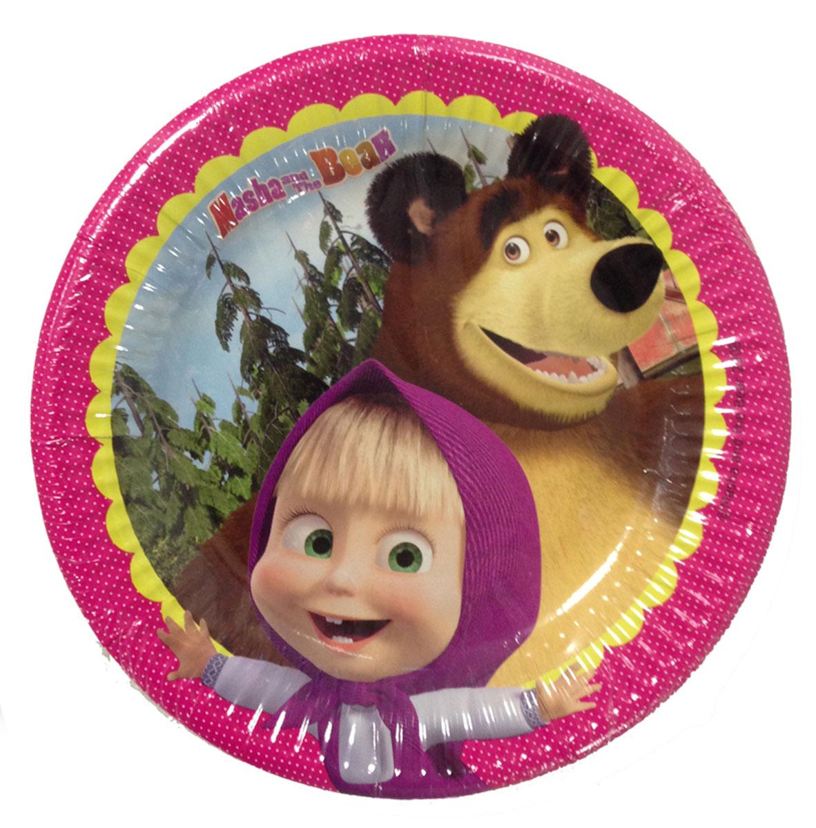 Маша и Медведь Набор одноразовых тарелок 8 шт