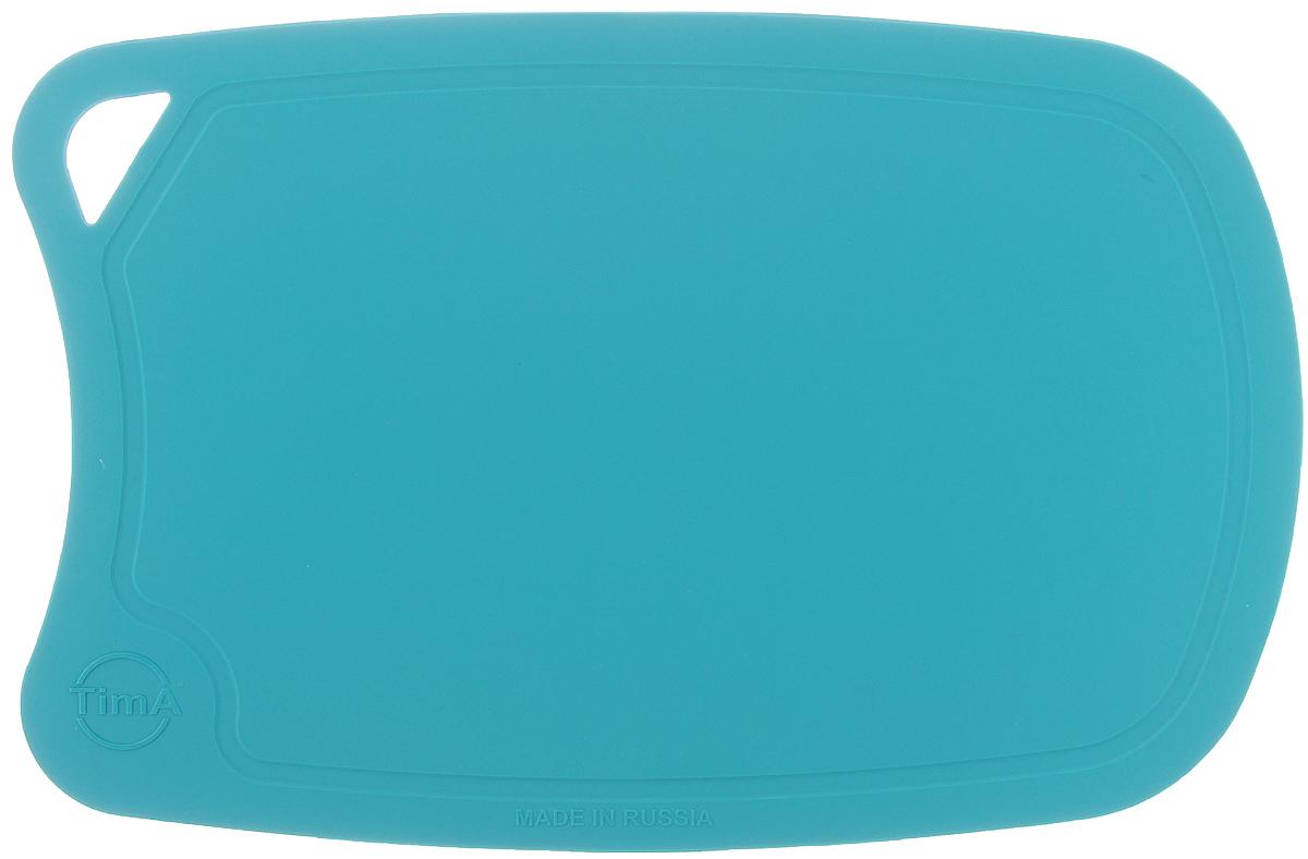 Доска разделочная TimA, цвет: бирюзовый, 28 х 19 см54 009312Гибкая разделочная доска TimA, изготовленная из высококачественного полиуретана, займет достойное место среди аксессуаров на вашей кухне. Благодаря гибкости, с доски удобно высыпать нарезанные продукты. Она не тупит металлические и керамические ножи. Не впитывает влагу и легко моется. Обладает исключительной прочностью и износостойкостью.Доска TimA прекрасно подойдет для нарезки любых продуктов.
