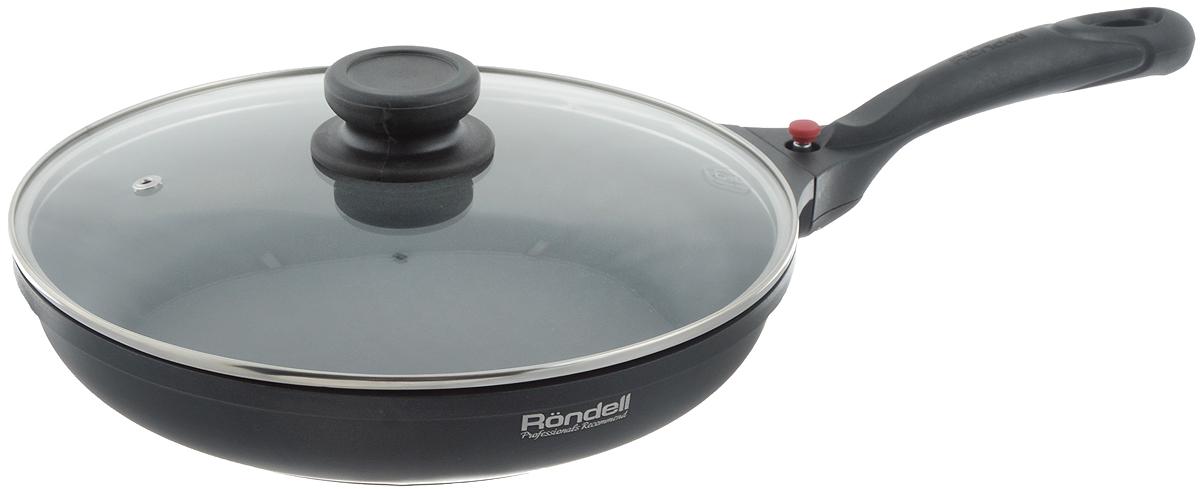 Сковорода Rondell Elements с крышкой, с антипригарным покрытием, со съемной ручкой. Диаметр 26 см391602Сковорода Rondell Elements изготовлена из литого алюминия. Благодаря утолщенному дну и стенкой, изделие прекрасно сохраняет температуру и идеально подходит для приготовления блюд, требующих длительного приготовления. Кроме того, вы будете приятно удивлены качеством обжарки продуктов на большом огне. Теперь вы сможете экономить пространство на кухне и готовить блюда на плите и в духовке, не меняя посуду. Надежная конструкция позволяет вам легко присоединять ручку к корпусу посуды. Крышка из термостойкого стекла с отверстием для выпуска пара позволяет следить за процессом приготовления без потери тепла. Внутреннее антипригарное покрытие TriTitan не содержит PFOA. Можно использовать металлические лопатки. Сковорода подходит для использования на всех типах плит, включая индукционные. Можно мыть в посудомоечной машине.Диаметр сковороды: 26 см.Высота стенки: 5 см.Длина ручки: 18,5 см.