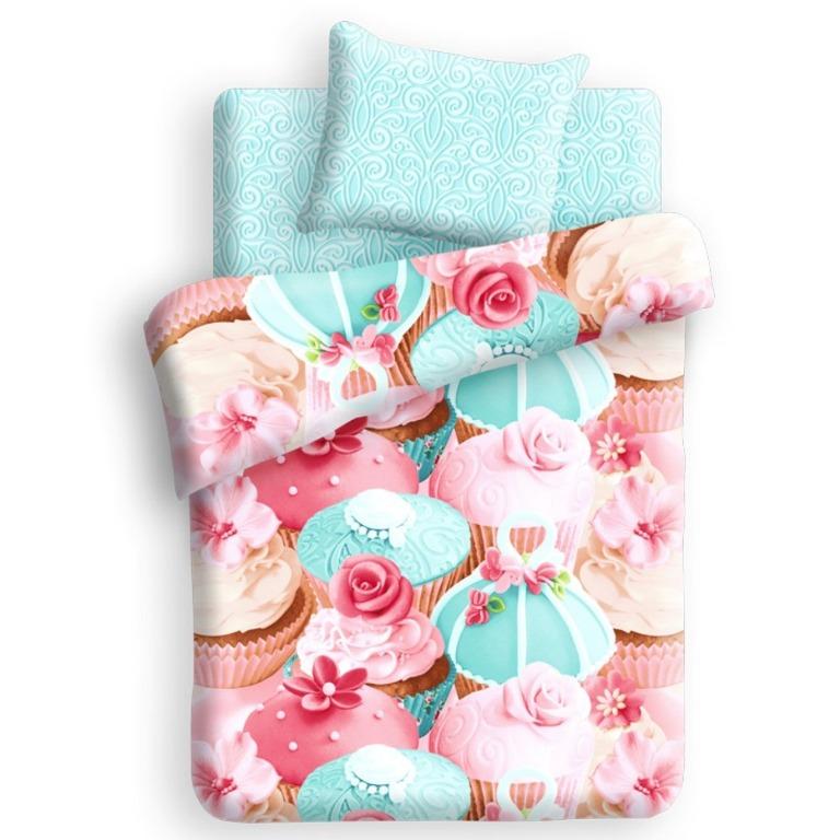 Комплект детского постельного белья For You Капкейк, цвет: розовый (8669/8670 вид 1)284366