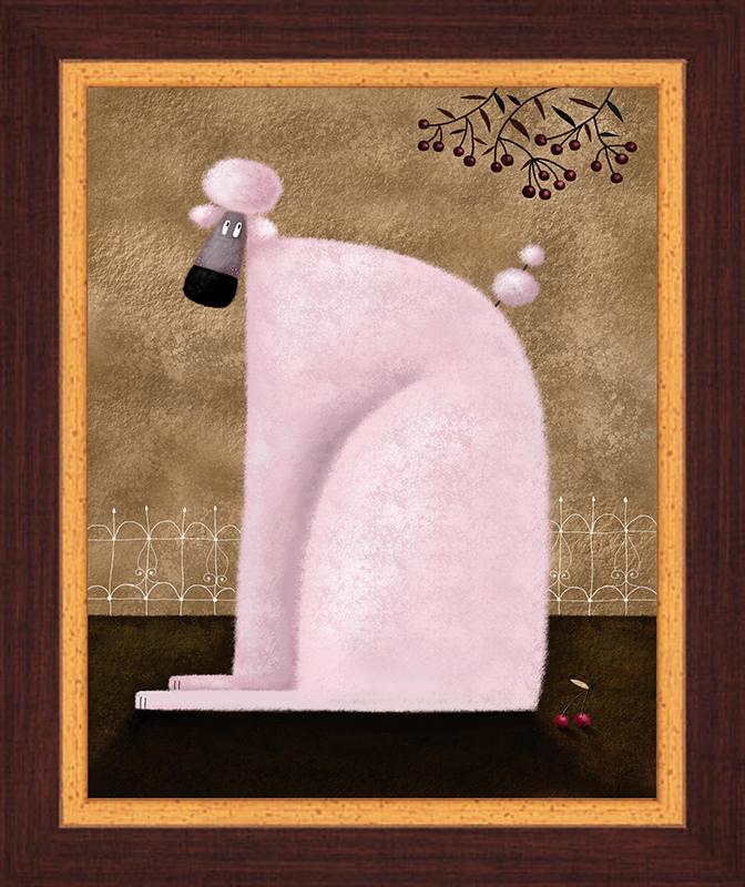 Картина Postermarket Розовый пудель, 23 х 30 смES-412Картина Postermarket Розовый пудель прекрасно подойдет для декора интерьера различных помещений. Постер, выполненный в технике фотопечать, оформлен багетом коричневого цвета. Картина для интерьера (постер) - это современное и актуальное направление в дизайне помещений. Ее можно использовать для оформления любых помещений (дом, квартира, офис, бар, кафе, ресторан или гостиница). работоспособность. Правильное оформление интерьера создает благоприятный психологический климат, улучшает настроение и мотивирует.Размер картины: 230 x 300 мм.